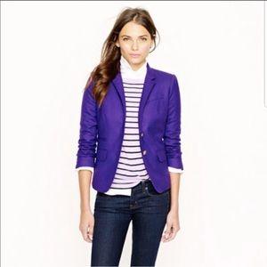 J Crew schoolboy blazer purple classic size 2